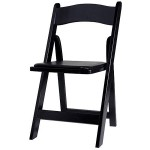 5 Black Wood Folding Chair