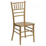 7 Gold Chivari Chair no Cushion